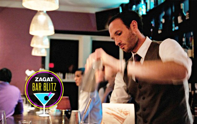Zagat Bar Blitz cover with bartender