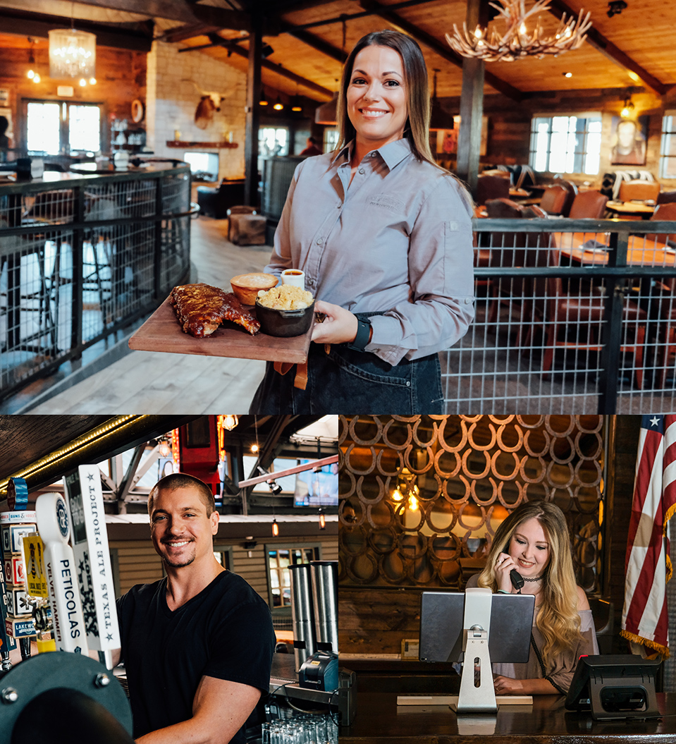 Collage of employees at The Ranch
